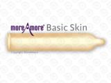 MoreAmore Basic Skin 100 condooms met glijmiddel in langwerpige folie vorm condoom