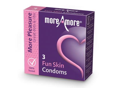 Fun Skin 3 condooms - More Pleasure