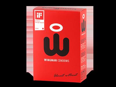 Wingman 8 condooms met afrol 'wing'