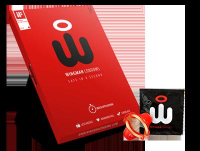 Wingman 12 condooms met afrol 'wing'