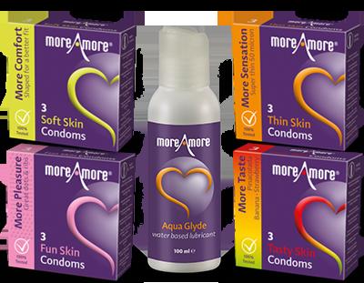 Combideal 4x3-pack condooms en 1x glijmiddel