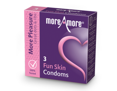 MoreAmore More Pleasure Fun Skin 3 condooms